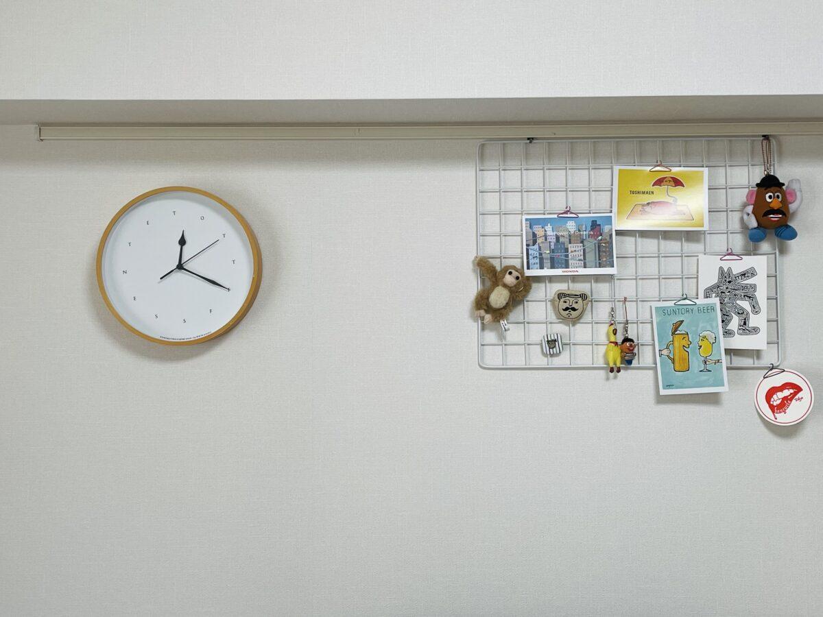 壁に時計をかける方法(壁美人利用)